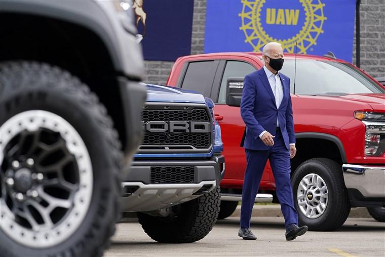 جو بایدن رئیس جمهور ماشین باز +تصاویر